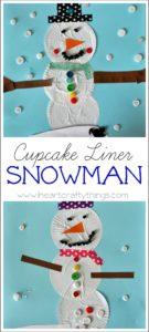 Cupcake Liner Snowman