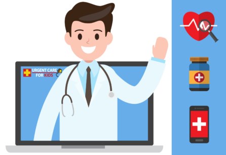 pediatric online telemedicine services for sick children by urgent care for kids